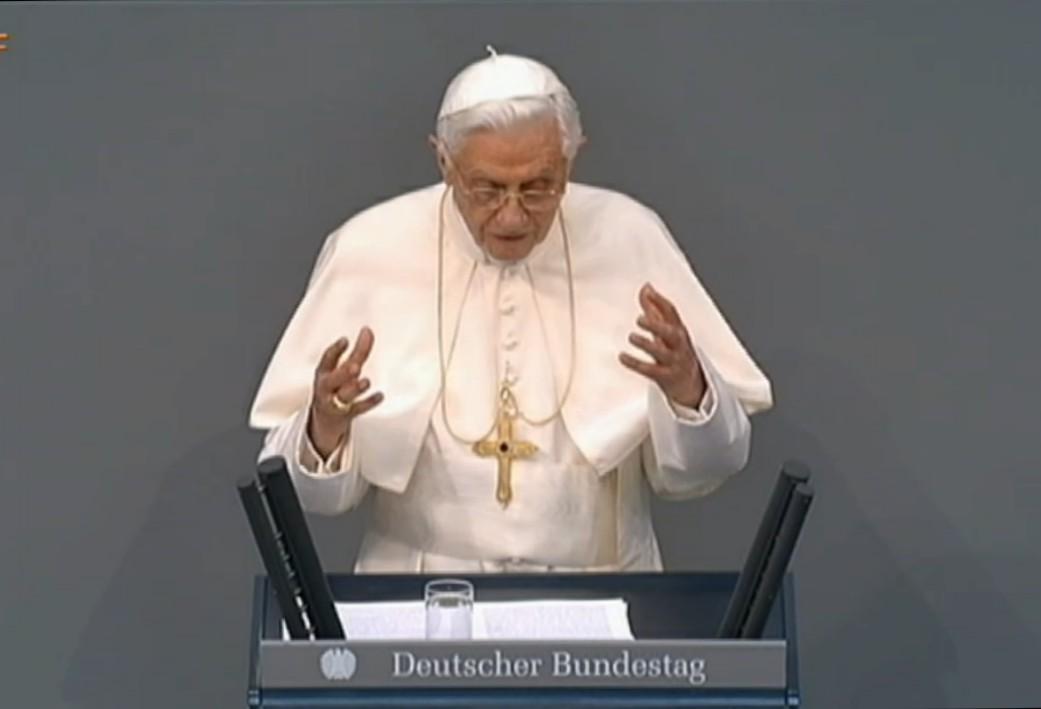 Papst Benedikt im Bundestag